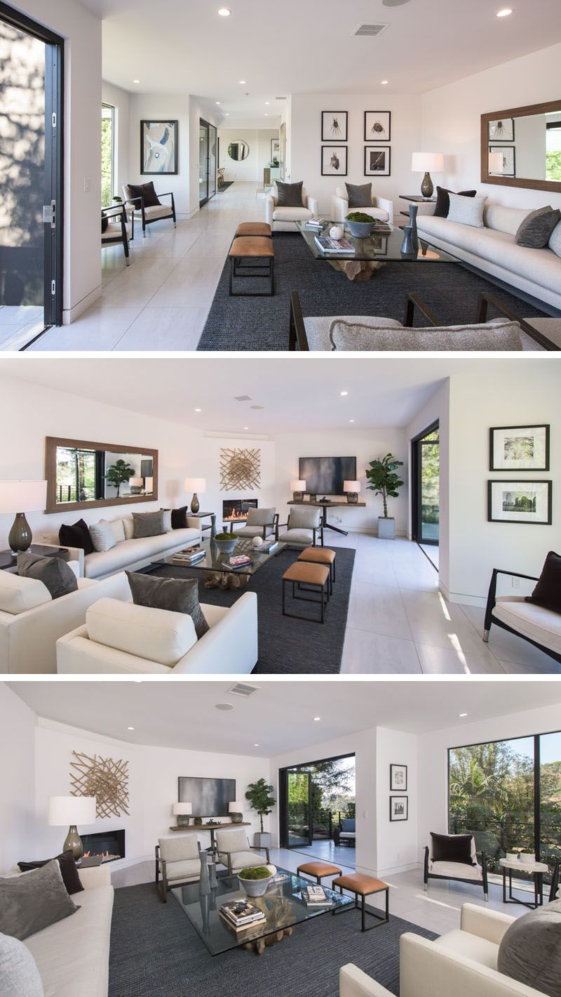 In this modern living room the white