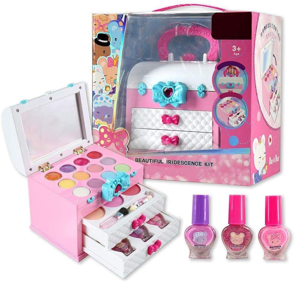 Pinkleaf Eyes Nails Lip Beauty Kit For Little Girls, Kids