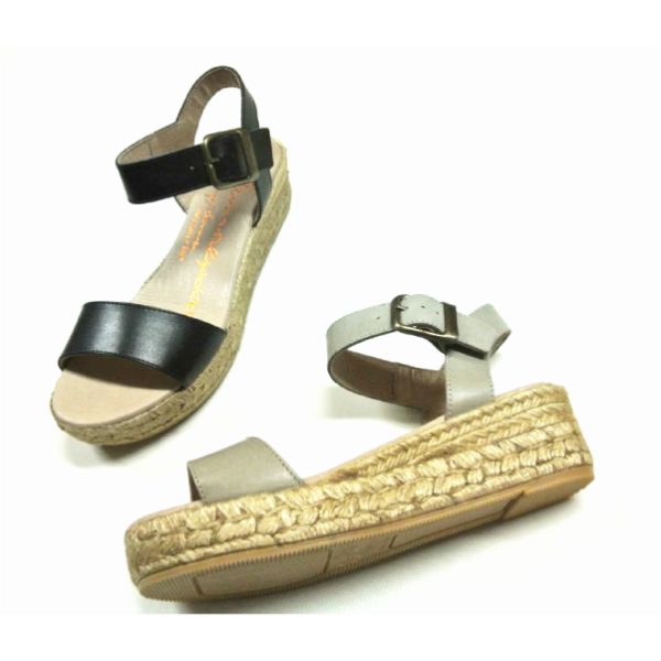 Gaimo's wedge espadrilles are super comfortable. These are made from leather and has a buckle-fastening ankle strap.  Perfect for day, the leather upper upper makes them ideal for low-key evening events, too.   Wear them with everything from cropped jeans to dresses | GAIMO SS15 Jyle Leather Platform Sandal | Spanish Fashion - SPANISH SHOP ONLINE | Spain @ your fingertips