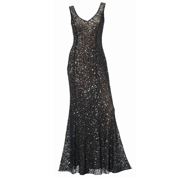 Professionel professionelles Design beste Turnschuhe ASHLEY BROOKE Abendkleid schwarz-glitzer. | FASHION ...