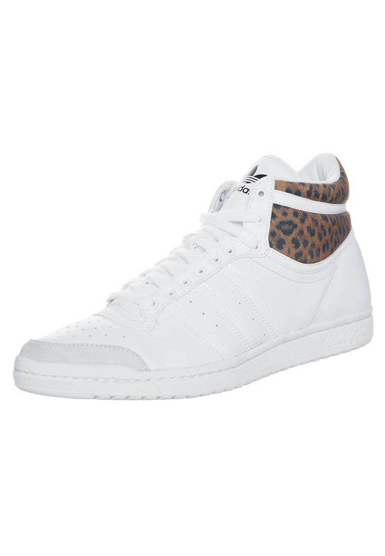 adidas Originals TOP TEN HI SLEEK W - Sneakers hoog - Wit ...
