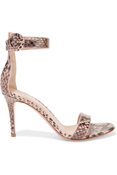 GIANVITO ROSSI. Snake PrintPythonShoes Sandals
