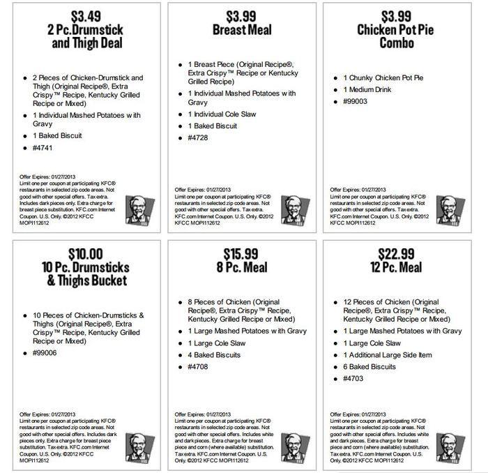 kfc coupons 2015 sydney - photo#15