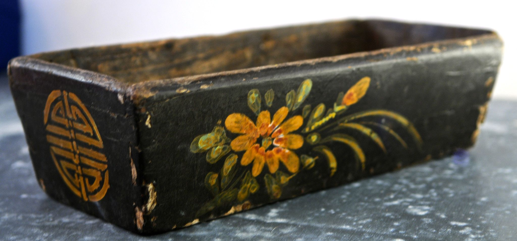 Antique Rustic Chinese Box