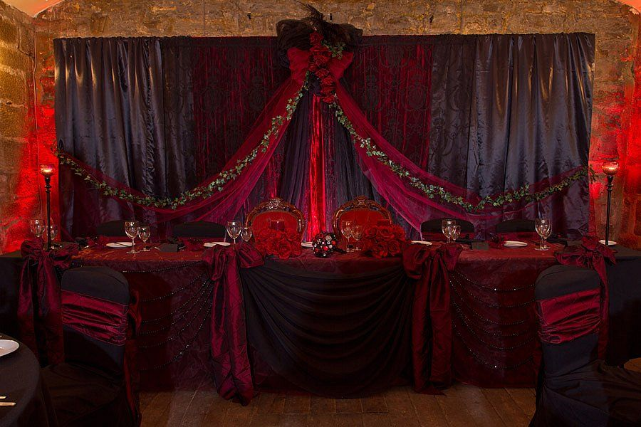 Black u0026 red backdrop by Fabric Theater UK & Black u0026 red backdrop by Fabric Theater UK | The Black Tent Temple ...