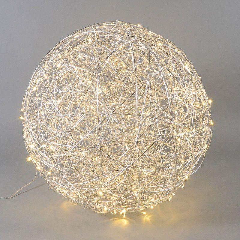 Lámpara DRAHT bola 80cm LED aluminio