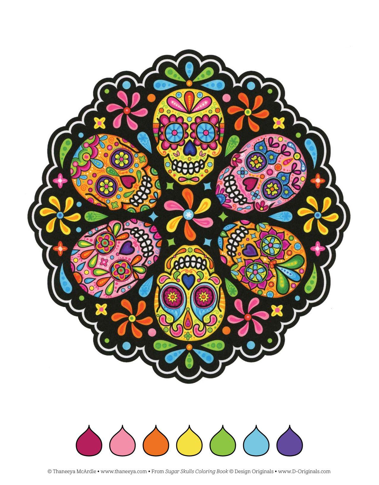 sugar skulls coloring book  wenn du mal buch mandala