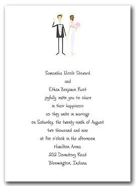 wedding invitation wording bride and groom hosting template ...