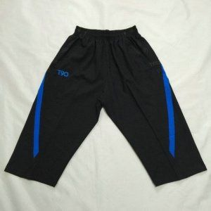 T90 Black and Blue Stripe 3/4 Pants [C858]