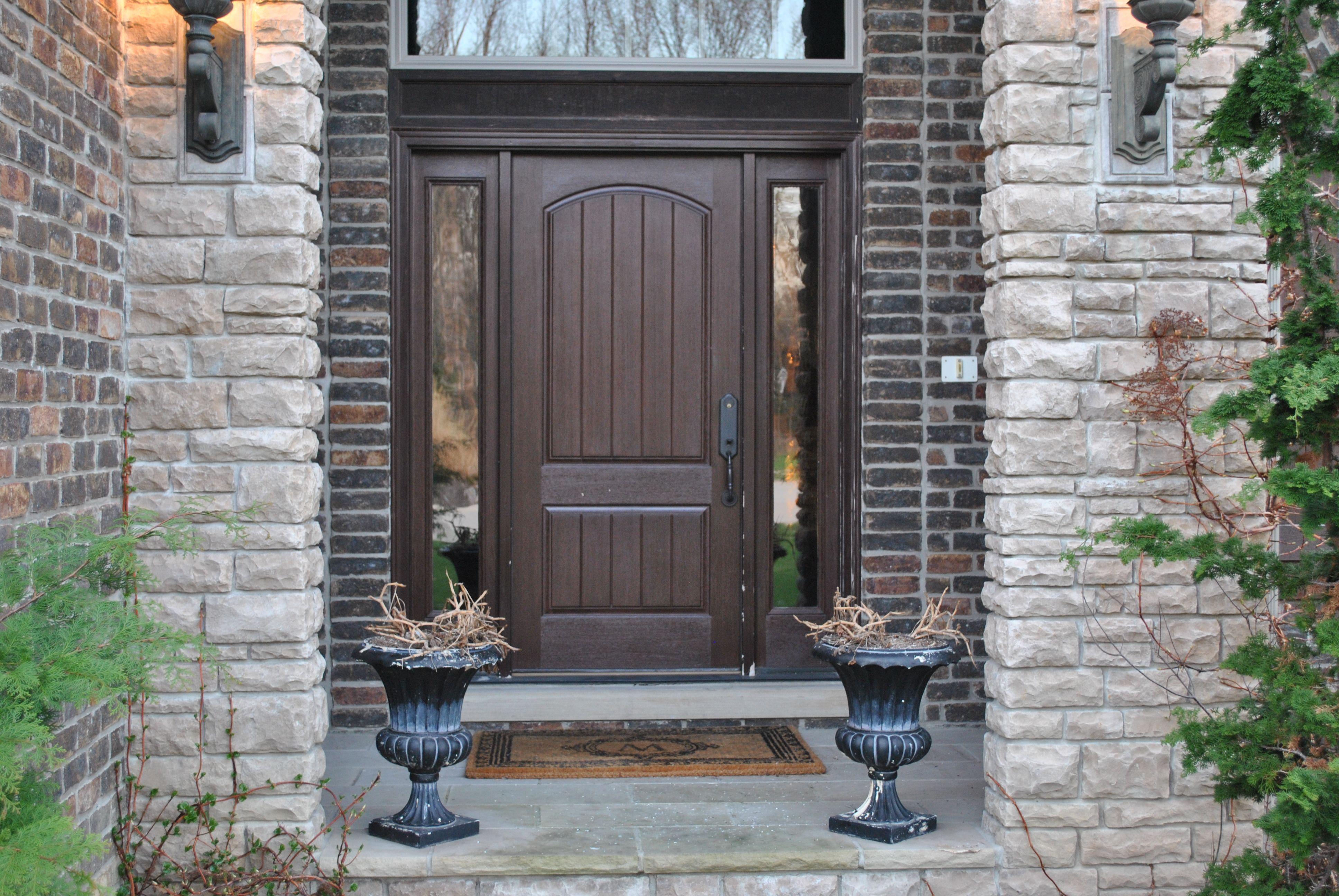 Best 25 Brown Front Doors Ideas On Pinterest Wreaths