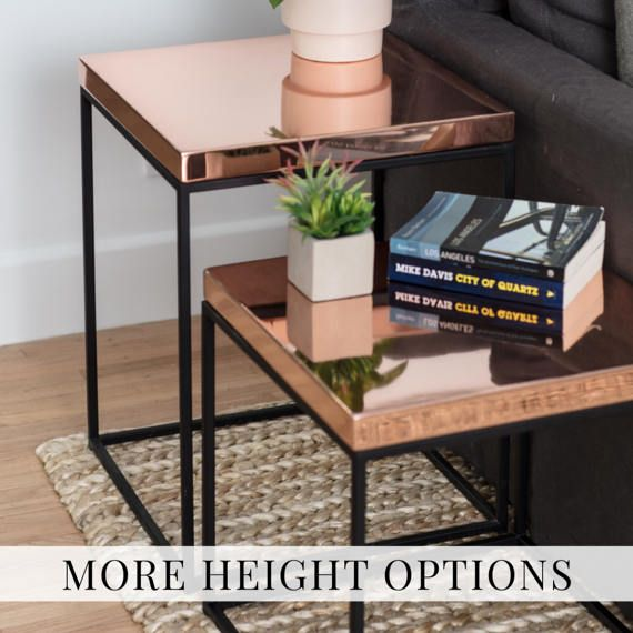 Copper Table Nightstand Copper Side Table End Table Bedside