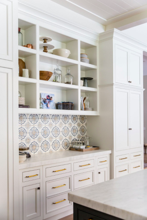 Benjamin Moore OC 17 White Dove Kitchen Cabinet Paint Color Caitlin Creer Interiors