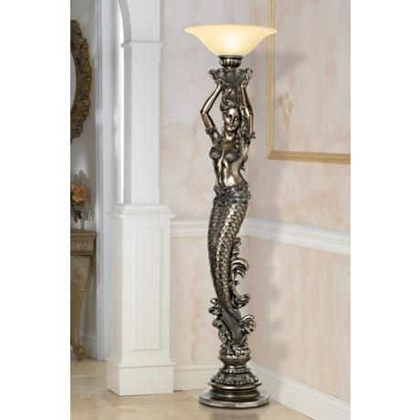 Mermaid Torchiere Floor Lamp 16325 Lamps Plus Torchiere Floor Lamp Floor Lamp Torchiere Lamp