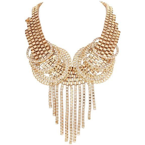 EVER FAITH Gold-Tone Punk Gothic Tassel Statement Necklace Clear Austrian Crystal N03307-2 on Chiq $0.00 : Buy Trends on CHIQ.COM http://www.chiq.com/ever-faith-gold-tone-punk-gothic-tassel-statement-necklace-clear-austrian-crystal-n03307-2