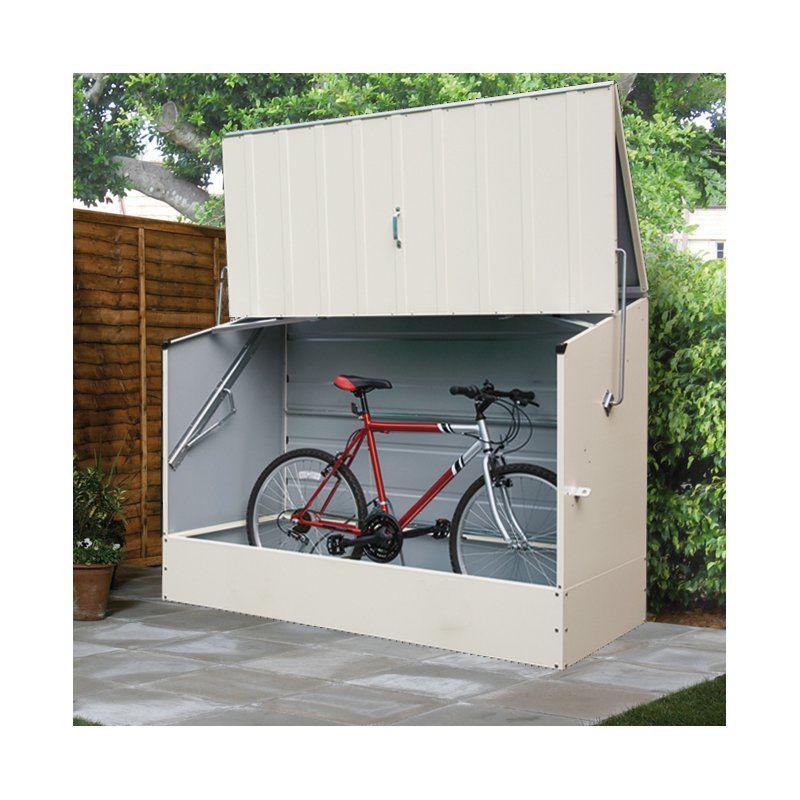 6 5 Ft W X 3 Ft D Metal Horizontal Bike Shed Outdoor Bicycle Storage Bicycle Storage Bicycle Storage Shed