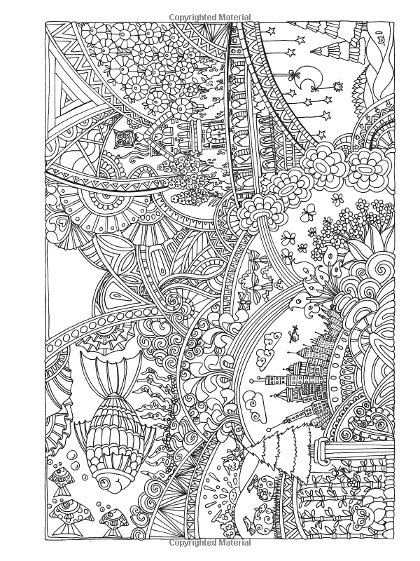 amazoncom creative haven insanely intricate entangled landscapes coloring book adult coloring - Intricate Coloring Books