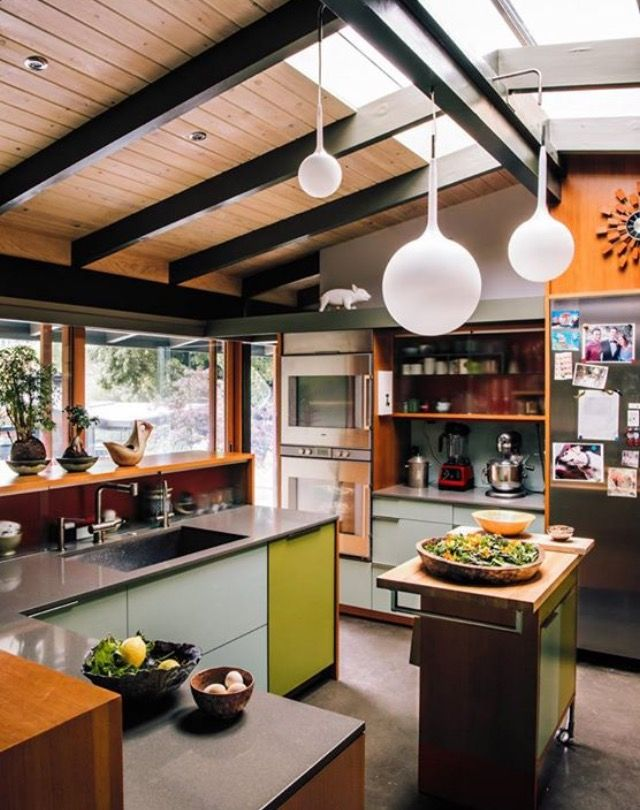Pin by Emily Winters on Kitchen | Pinterest | Kitchens, Mid century ...