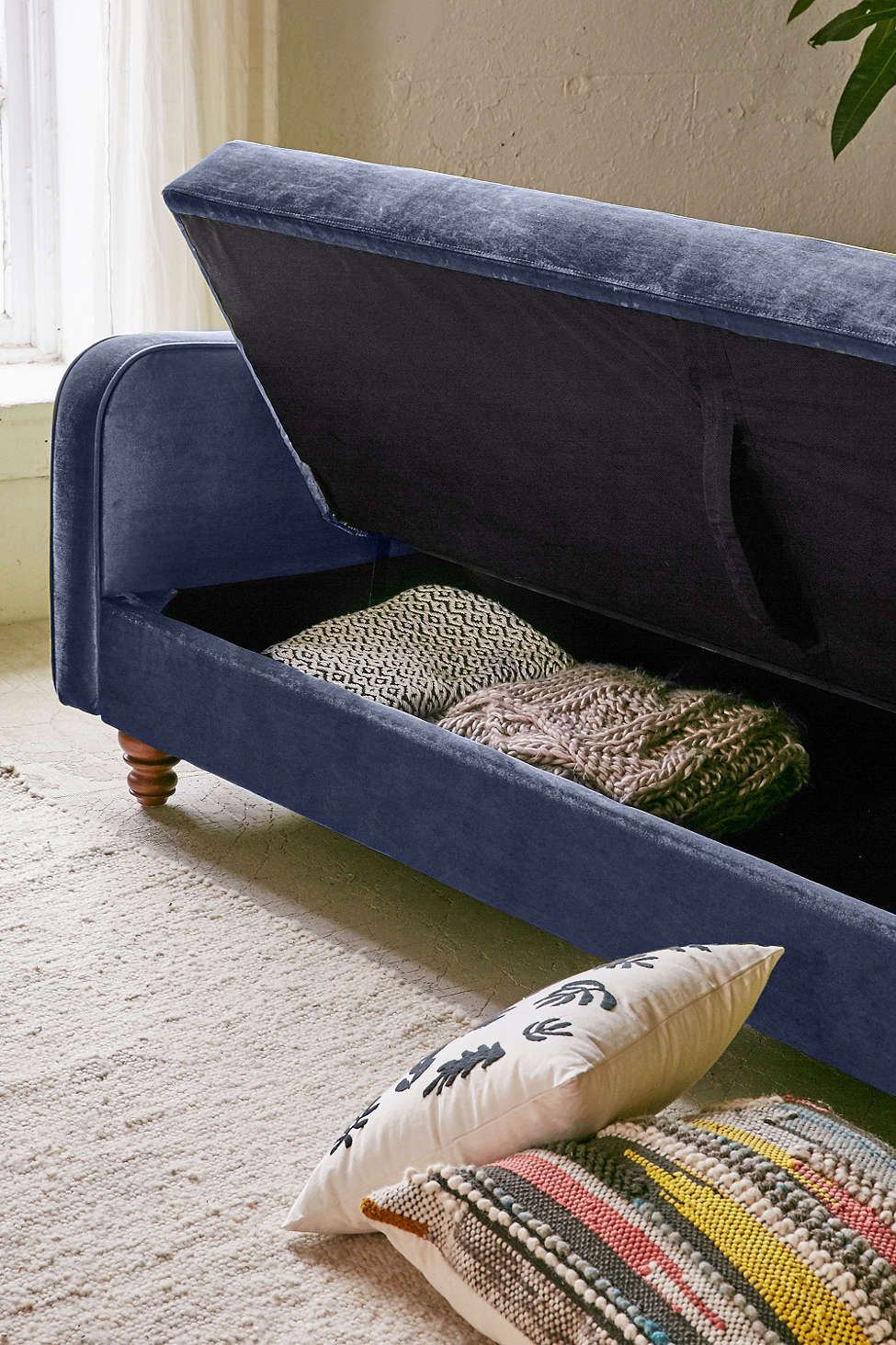 Chesterfield Sofa Adeline Storage Sleeper Sofa