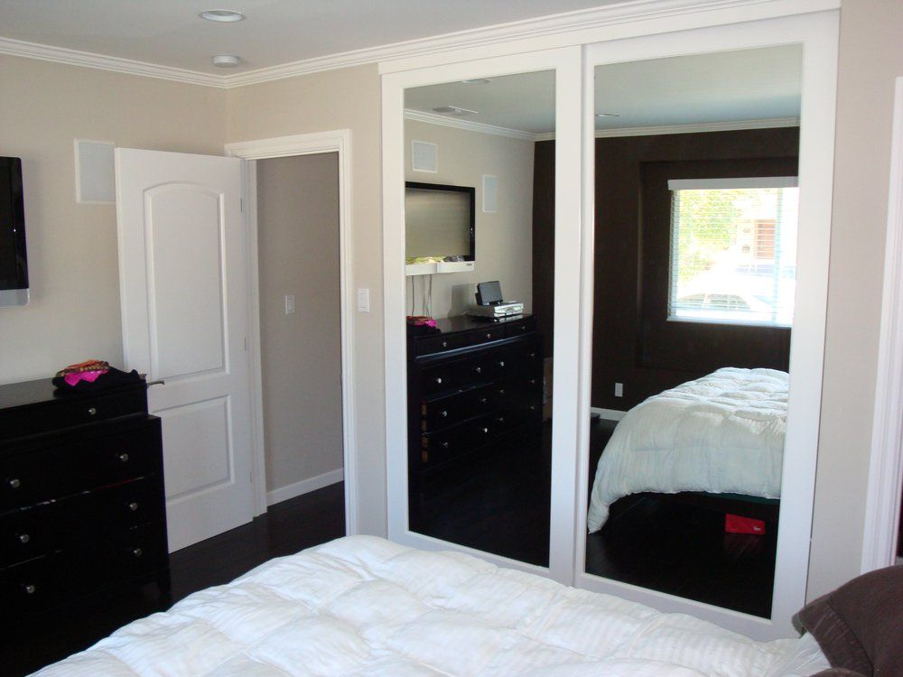 Interior Door Closet Company Torrance Ca United States Wood Frame Mirrored Doors