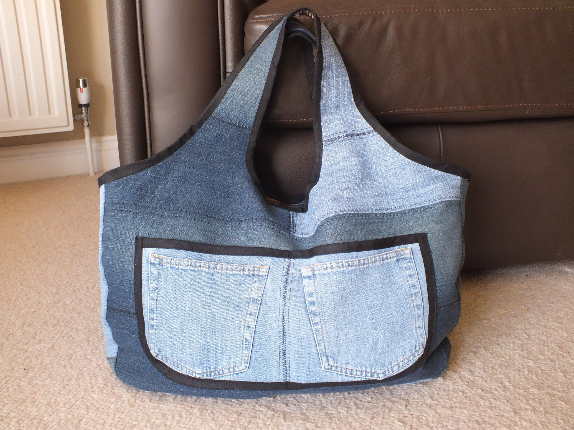 recycled jeans bag (sahara - 3) diy jeans bag / denim sewing