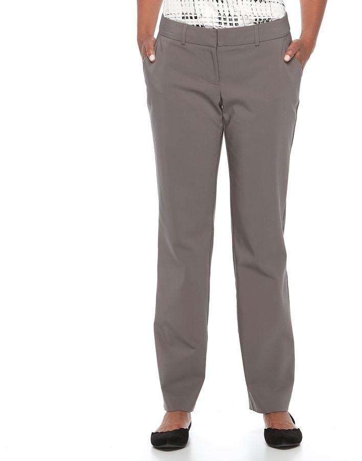 2ea2b47932a Apt. 9 Women s Torie Midrise Modern Fit Straight-Leg Dress Pants ...