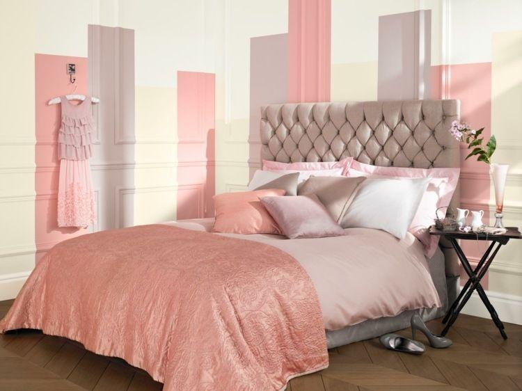 Wandgestaltung mit Farbe - lila und rosa für das Mädchenzimmer ...
