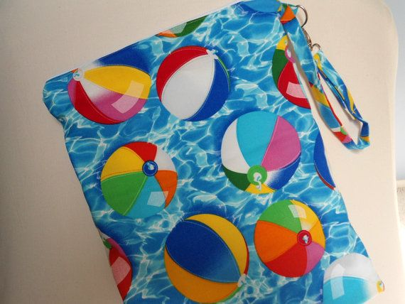 Summer Showers Zippered Bag