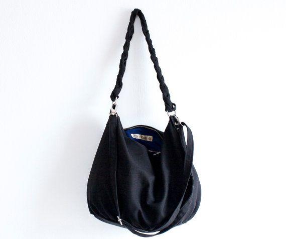 Hey, I found this really awesome Etsy listing at https://www.etsy.com/listing/175385161/sale-braid-bag-in-black-crossbody-bag
