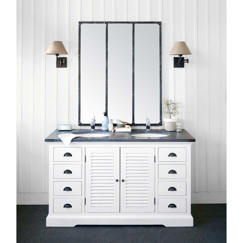 Doppelwaschtisch Aus Holz Und Keramik B148 Cm Maisons Du Monde Doppelwaschtisch Badezimmer Kaufen Holz