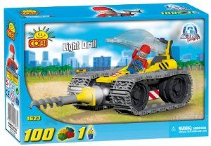 New! COBI Action Town Light Drill 100 Piece Building Block Set by COBI. $17.99. Quality European craftsmanship!. Ages 5 +. Compatible with leading block brands!. New! COBI Action Town Light Drill 100 Piece Building Block Set. Build your own construction site! Includes figures!