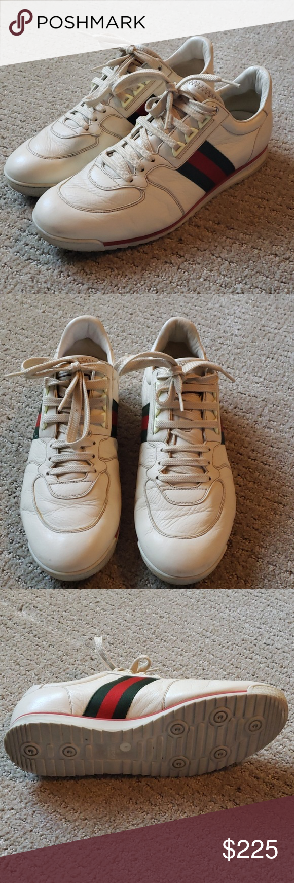 835435b56 Gucci Mens Leather sneakers 243825 size us 8 Good condition. Purchased at  Gucci in Beverly Center. Only worn a handful of times.