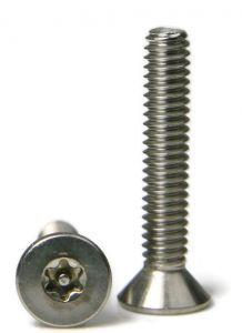 6 32 T 15 Star Drive Tamper Proof Flat Cap Machine Screw 18 8 Stainless Steel Machine Screws Tamper Proof Tampers