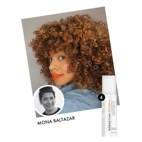 Manhattan's curl whisperer, Mona Baltazar, builds in extra bounce by applying classic Sebastian Professional Potion 9. @monabaltazar | Muze Salon, NYC