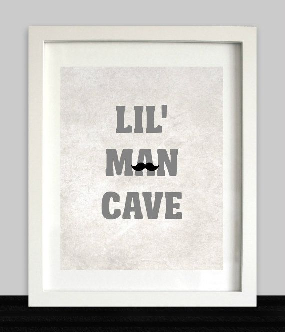 Baby Boy Wall Art lil man cave print // boys wall art // nursery prints // baby boy
