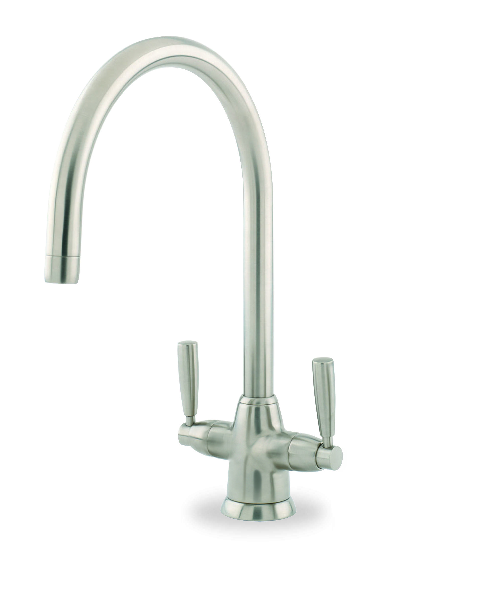 Perrin & Rowe Metis Sink Mixer in Pewter complete with Lever Handles ...
