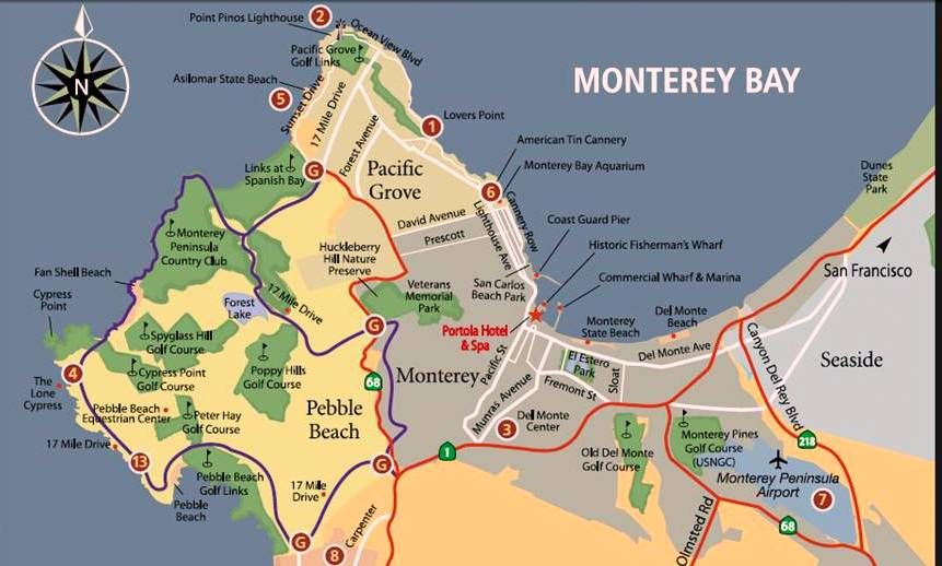 17 Mile Drive Map 17 Mile Drive Map Brochure | map 17 bl | Map Ideas   Historic  17 Mile Drive Map