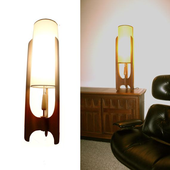 1960s Tall Teak Table Lamp by AARDVARKMARKET on Etsy