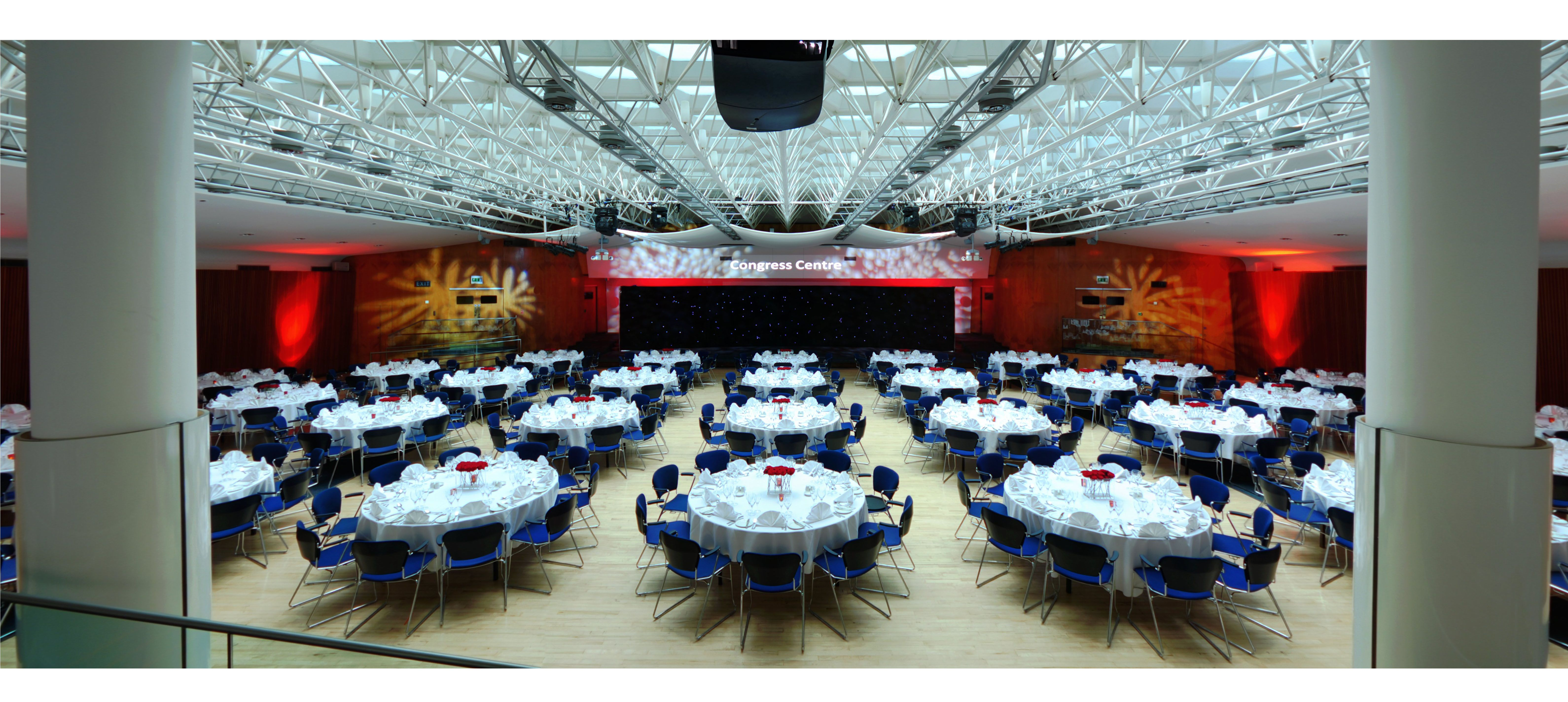 256 people can be seated cabaret style at London\'s Congress Centre ...