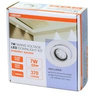 Osram 240v 7W GU10 LED Warm White Gimble Downlight $29