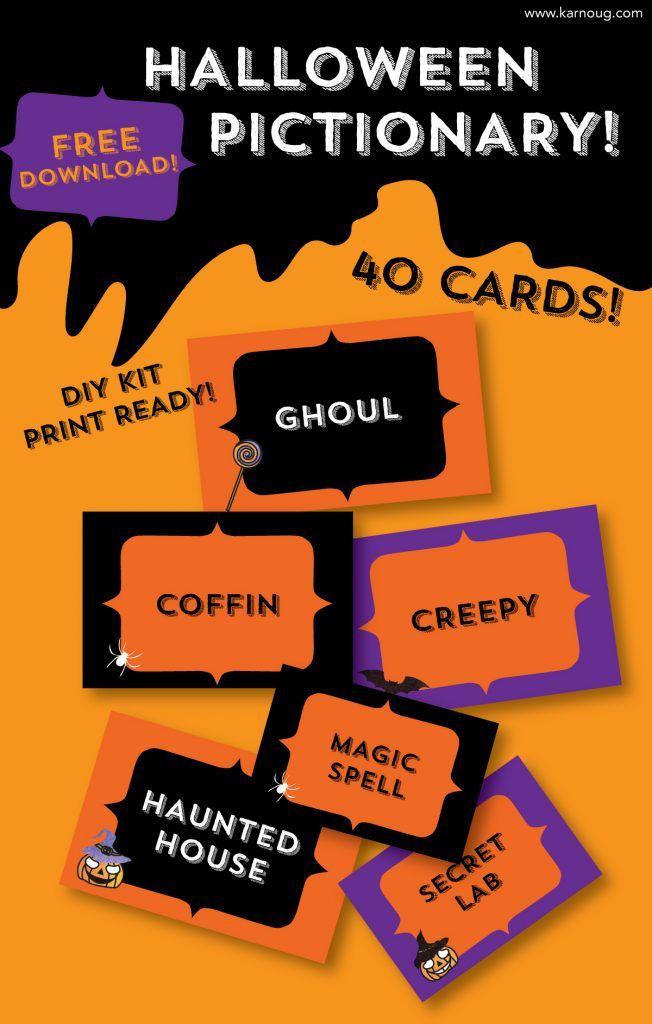 Halloween Pictionary DIY KIT Free Download Halloween