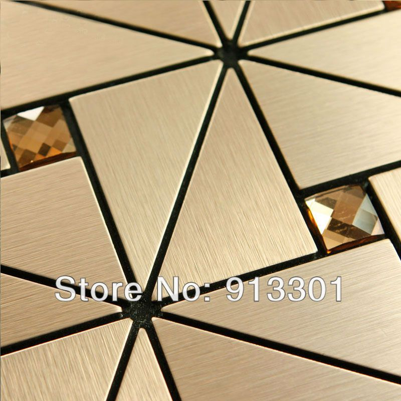 Metal mosaic tile deco mesh kitchen backsplash flooring bathroom ...