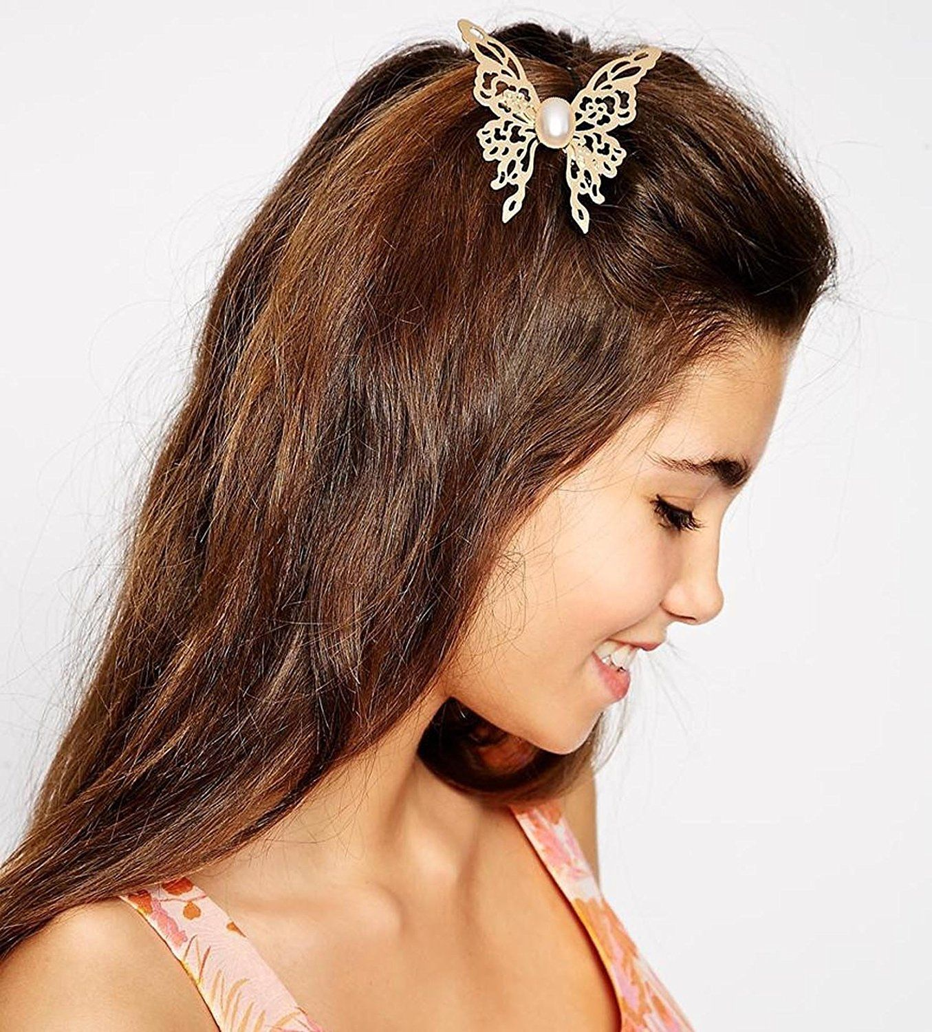 Unique Vintage Hair Accessories Double Chain With Leaf Comb Head New Headband LL