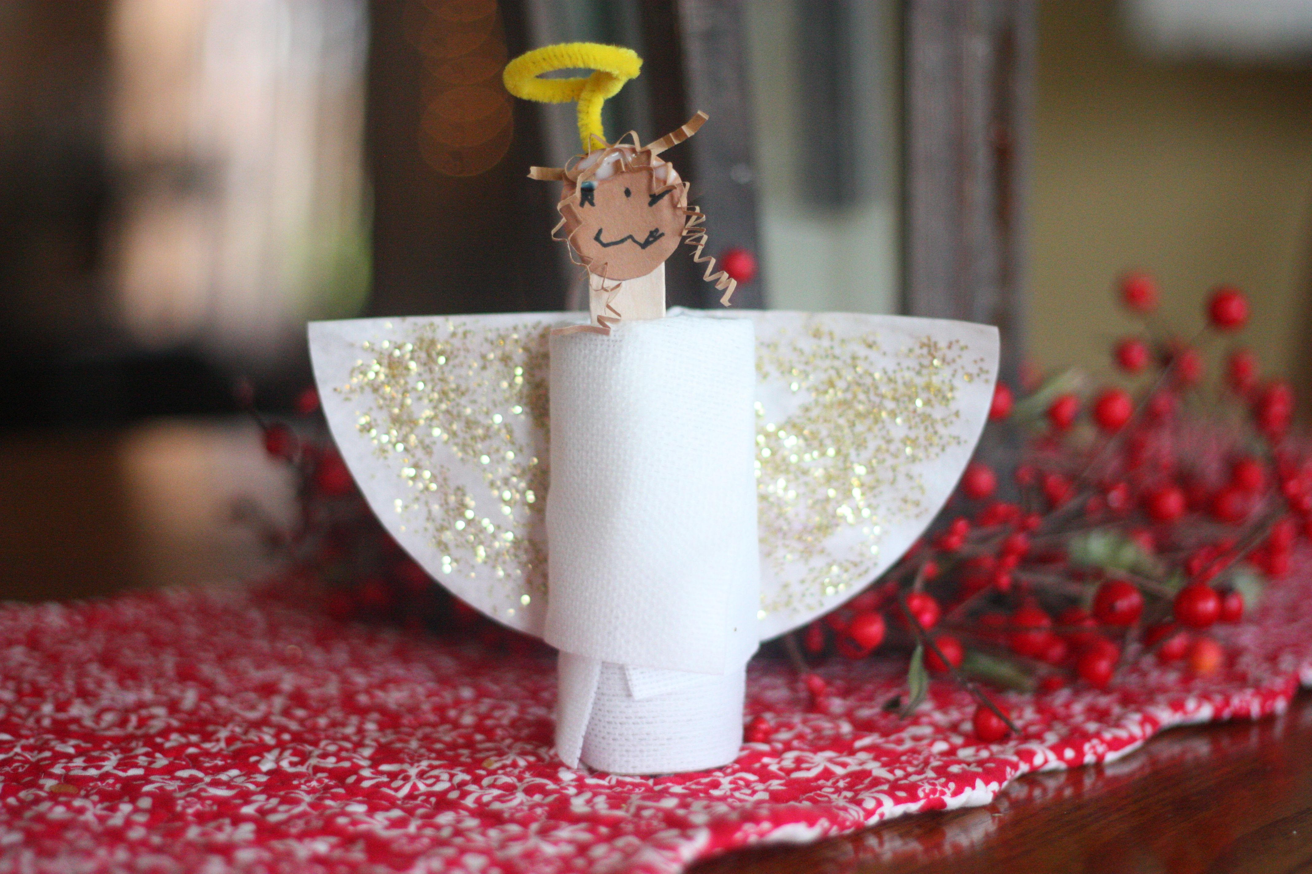 christmas angel crafts for kids | Angels and toilet paper…shouldn't that be an oxymoron, or ...