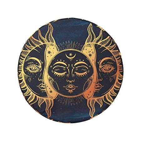 Amazon Com Interestprint Spare Tire Cover Moon And Sun Design For