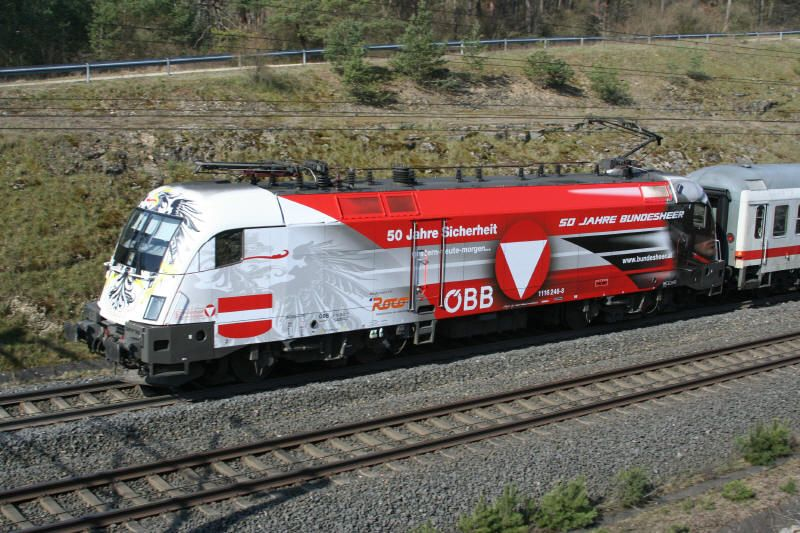 Br 182 50 Jahre Bundesheer Obb Eisenbahn Bundesbahn Bundesheer