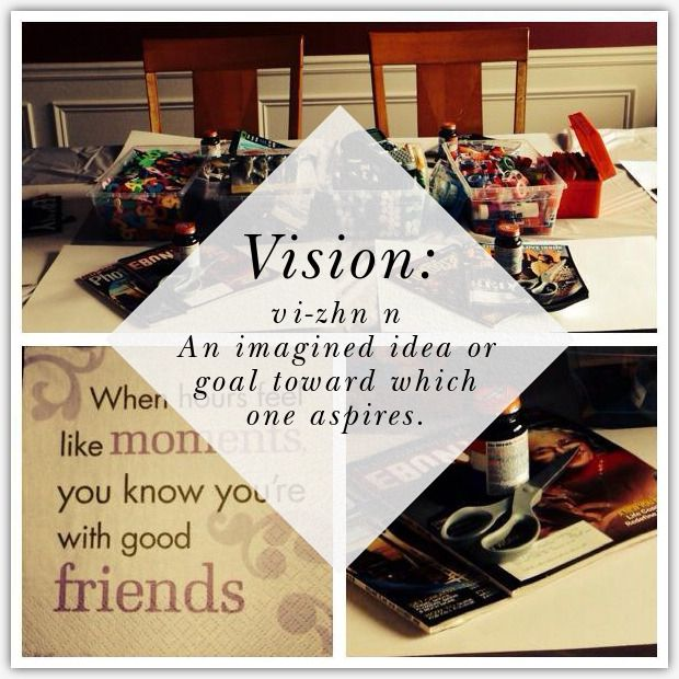 Invitation for Vision Board Party Motivational Pinterest Board