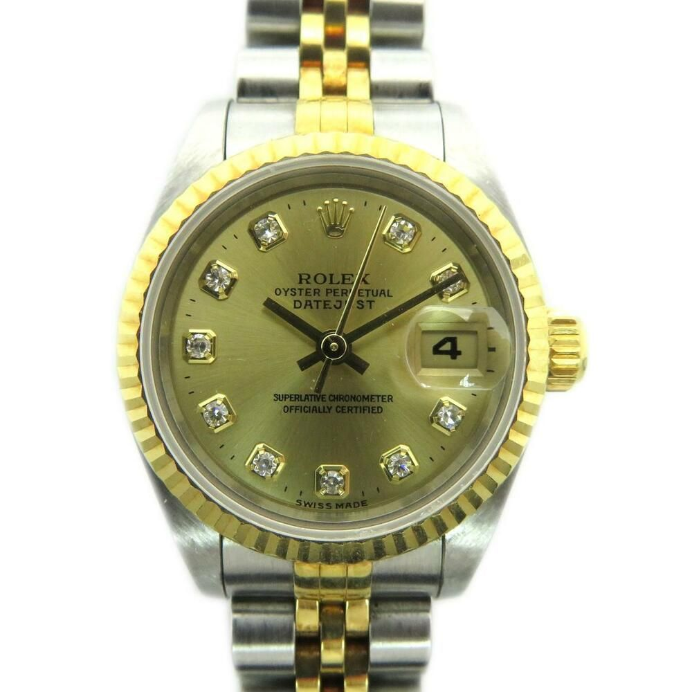 los angeles 02795 f1f78 Rolex Datejust Watch 69173G Stainless Steel Gold 2430 ...