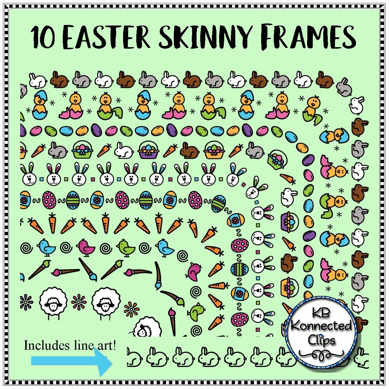 10 Easter Skinny Frames