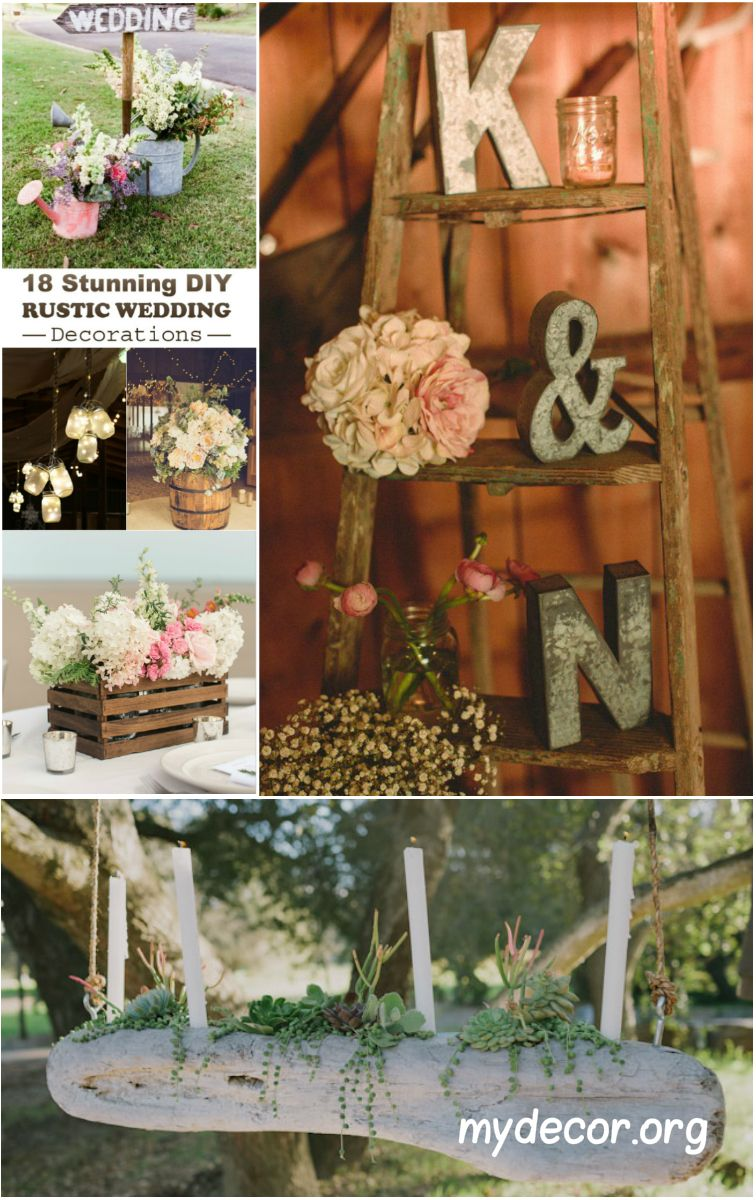 Wedding decorations at home   Stunning DIY Rustic Wedding Decorations  Diy rustic weddings