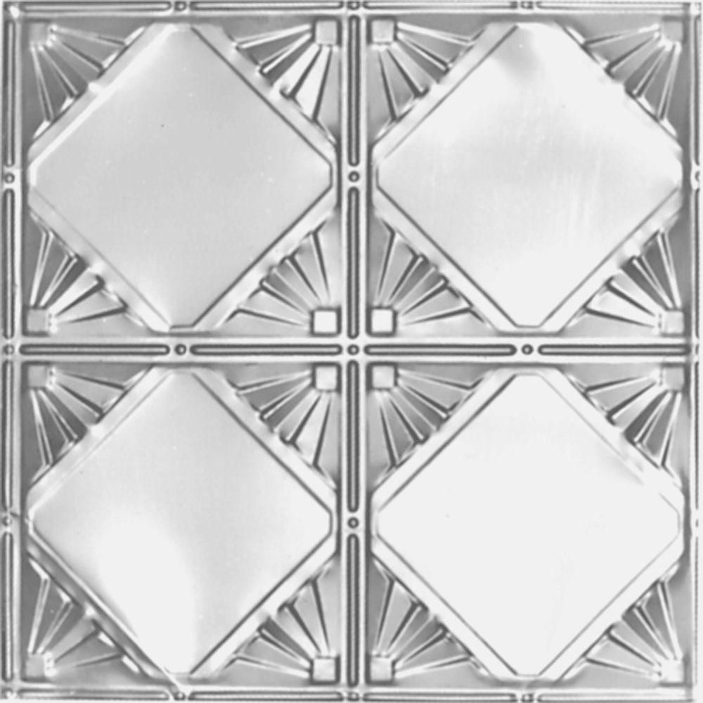 2 Ft X 2 Ft Lay In Suspended Grid Tin Ceiling Tile In Clear